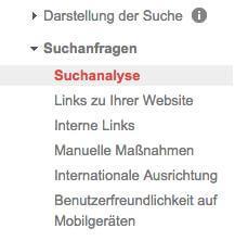 Suchanalyse in den Google Webmaster Tools