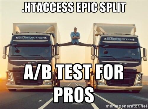 A/B Test mit der .htaccess