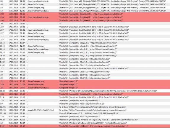 analytics log file