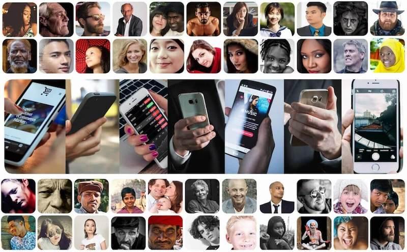 bilder online menschen erreichen klein digitale welt