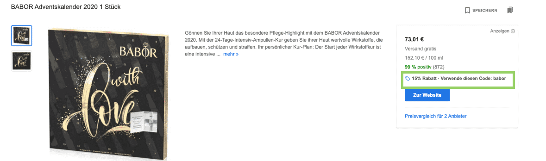 black friday google ads rabattaktion
