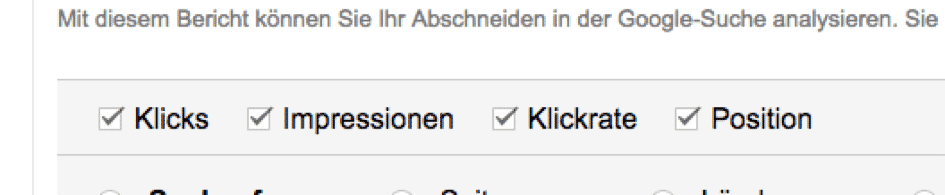 Content-Optimierung mit der Google Search Console Screenshot
