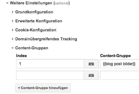 content grouping teil 2IV