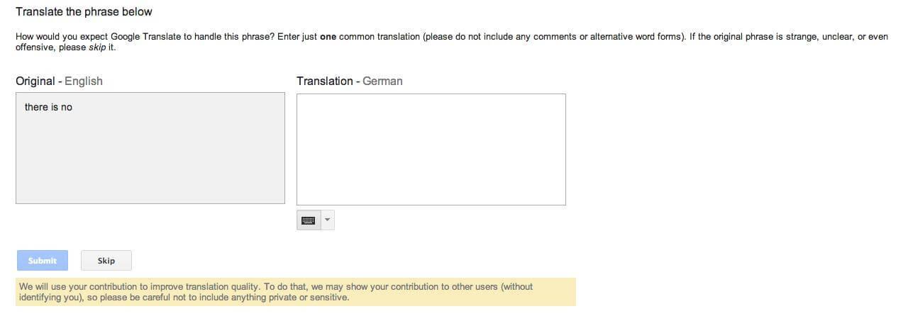 google translate II