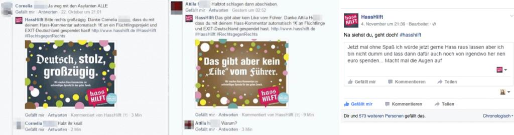 Gegen Hasskommentare auf Facebook