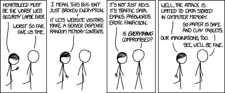 Heartbleed auf xkcd