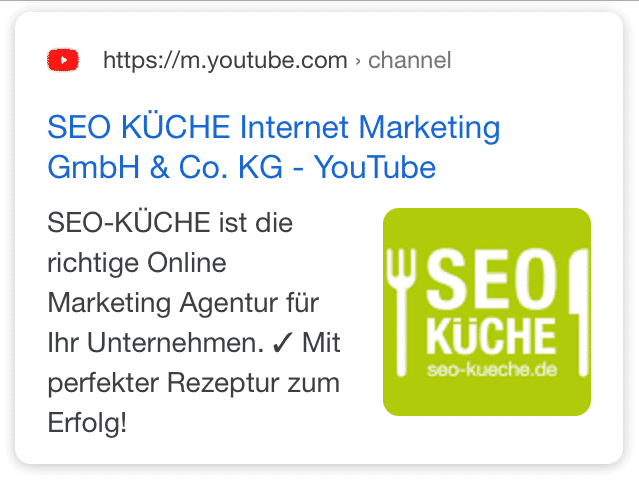 image thumbnails für mobile snippets - beispiel seo kueche