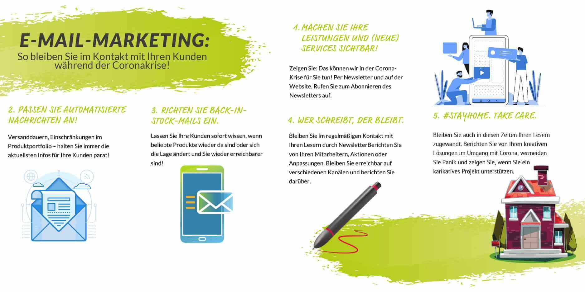 Tipps E-Mail-Marketing während Corona Infografik