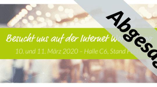 INTERNET WORLD EXPO in München 2020 wegen Corona-Virus COVID-19 abgesagt!