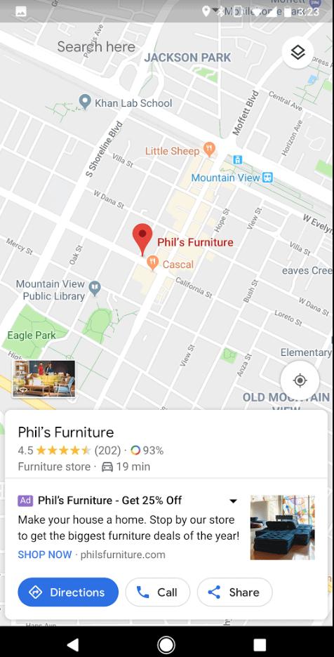 lokale kampagne google ads maps