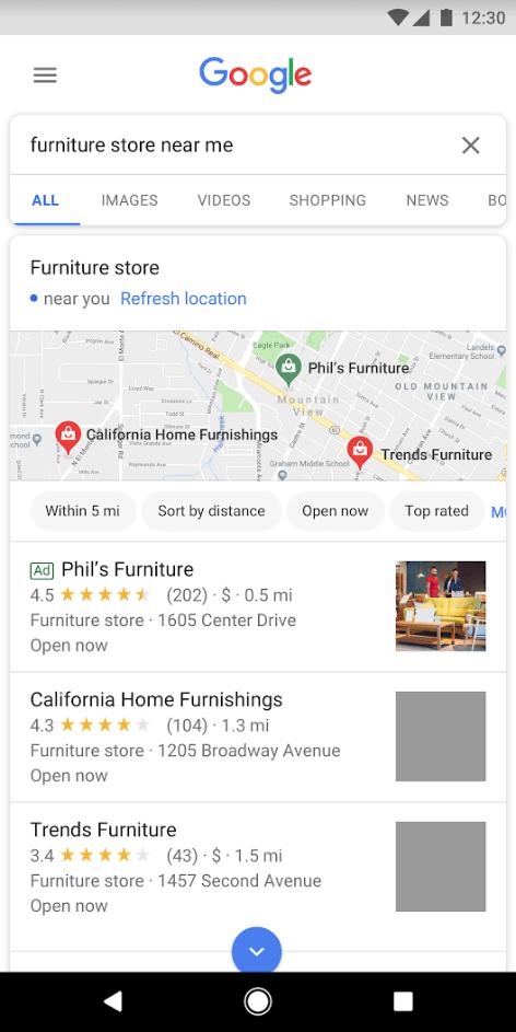 google ads lokale kampagne suchnetzwerk bsp