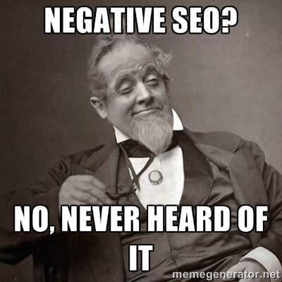 negatives seo