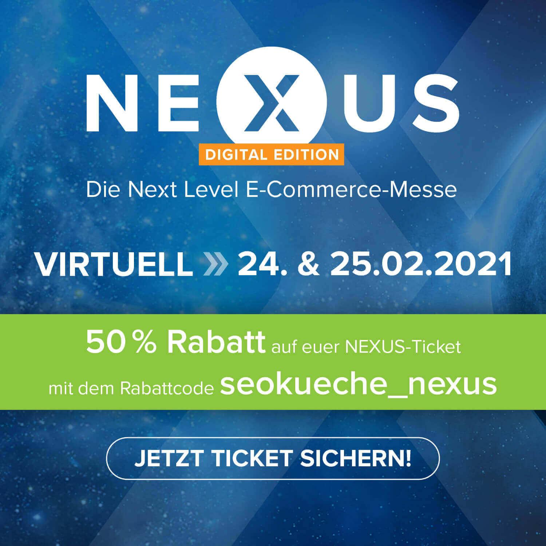 nexus messe 2021 ticket rabatt