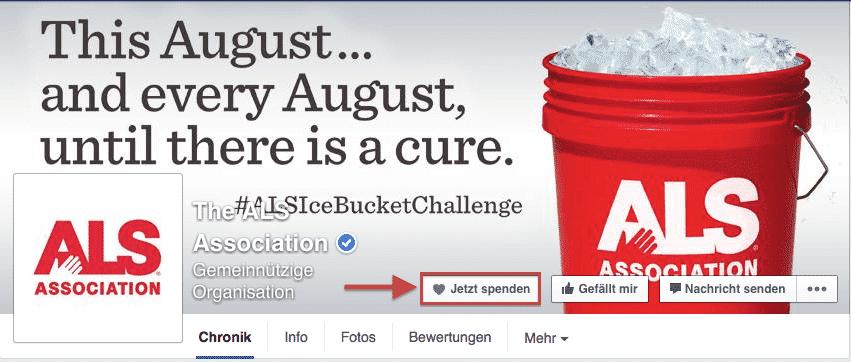 Facebook Spendenbutton
