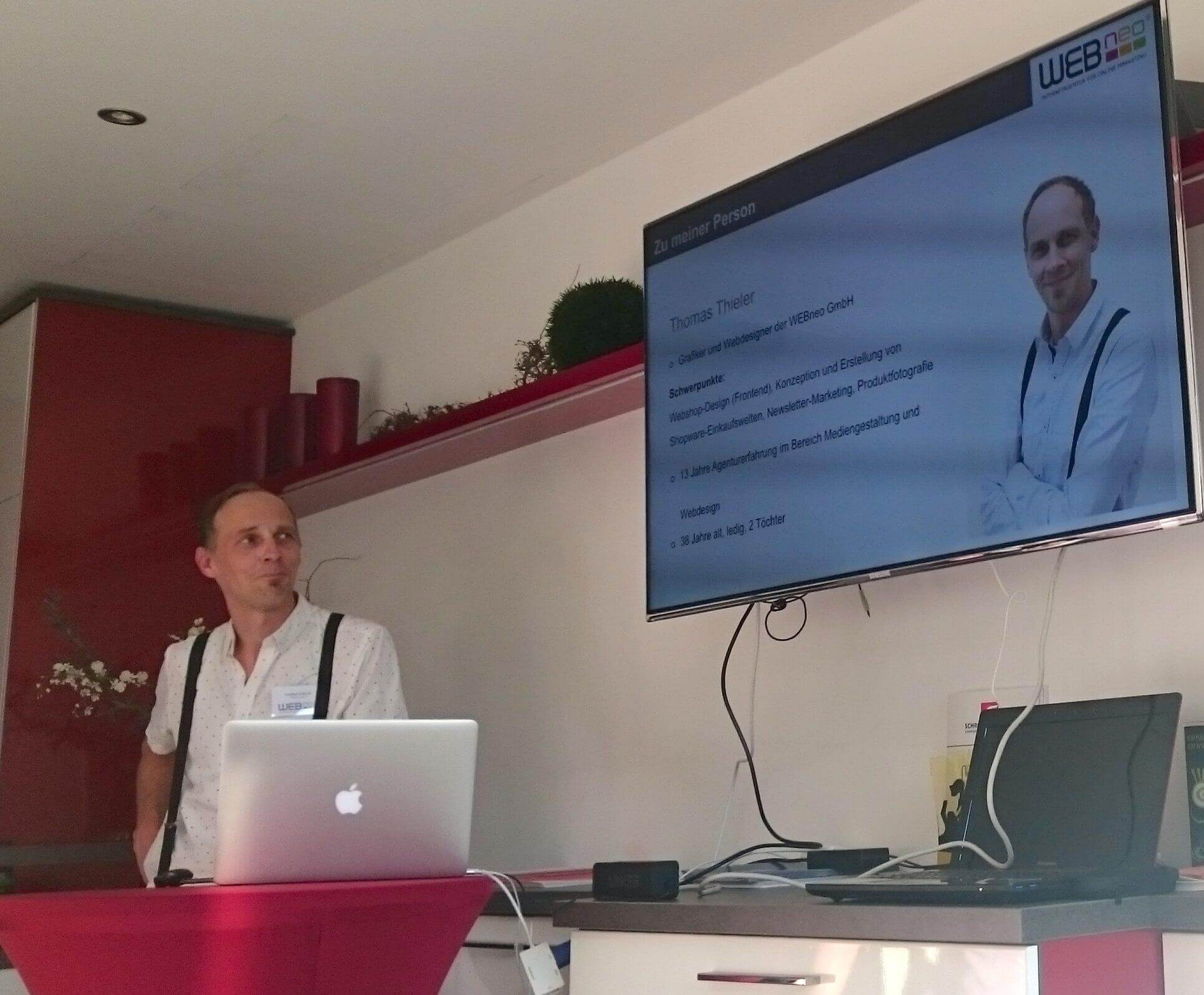 Der zweite Vortrag auf dem E-Commerce-Stammtisch Dresden.