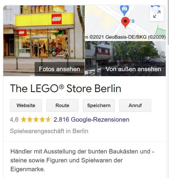 Unternehmensbeschreibung Lego