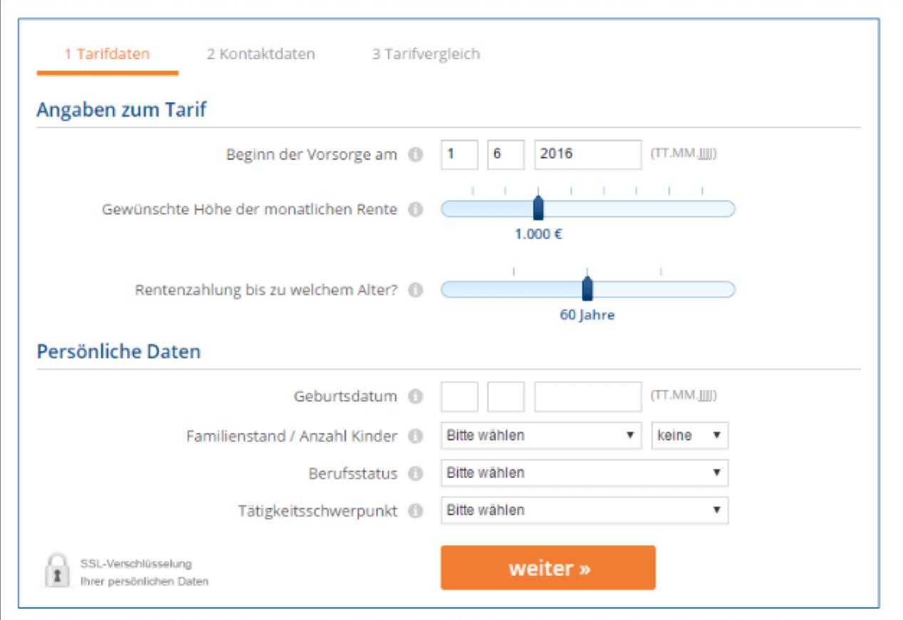 webseite formular beispiel grafik
